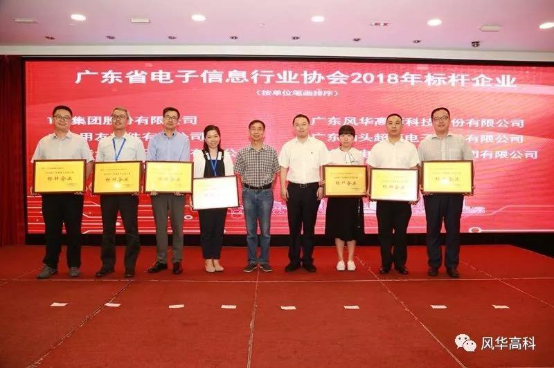 公司获广东省电子信息行业协会2018年标杆企业奖